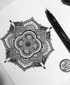 """4,460 Likes, 44 Comments - Asmahan Rose Mosleh اسمهان (@murderandrose) on Instagram: """"This 5"""" #mandala piece available to purchase. If interested DM me or drop me an email to…"""""""