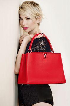 Michelle Williams en campaña publicitaria para Louis Vuitton.