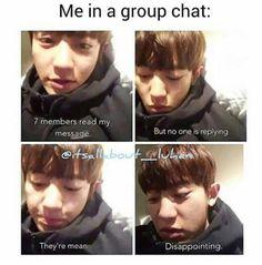 Exo Chanyeol (so me in AO) Bts Memes, Kdrama Memes, Funny Kpop Memes, Bts Got7, Jimin, Exo Ot12, Chanbaek, Kaisoo, K Pop