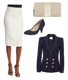 """""""Job interview"""" by bethanybman on Polyvore featuring Alice + Olivia, Pierre Balmain, Kate Spade and Dorothy Perkins"""