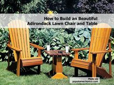 How to Build an Beautiful Adirondack Lawn Chair and Table