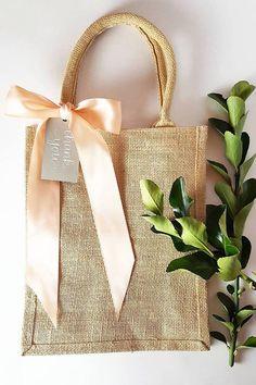 Rustic Elegant Burlap Wedding Hotel Welcome Bag, Gift, Favor