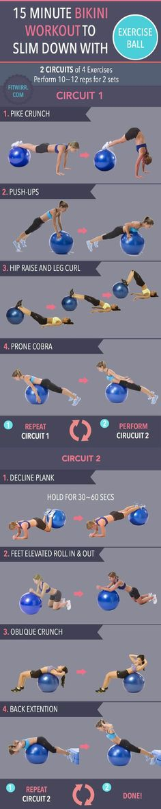 15-Minute Ball Workout. Working with an stability ball strengthens your core and tones your body.