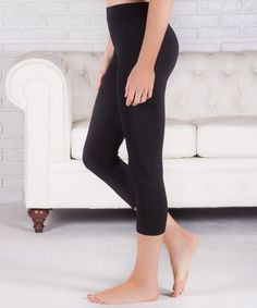 Look what I found on #zulily! Black Capri Leggings - Women by Contagious #zulilyfinds