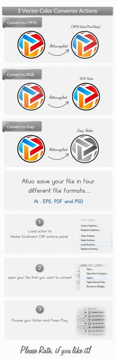 Buy Vector Color Mode Actions by Nasirktk on GraphicRiver. Hello All, Here's a simple color mode converter actions pack that allow you to change your graphic color mode with si. Learn Photoshop, Photoshop Tips, Adobe Illustrator Tutorials, Ai Illustrator, Simple Colors, Portfolio Design, Designs To Draw, Graphic Design, Design Art