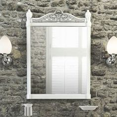 Traditional Bathroom Mirrors burlington back to wall toilet and semi recessed basin suite