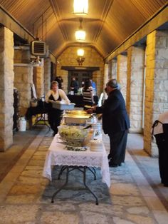 The main hallway of the Watchtower Lodge, at Black Hawk State Park - this area is usually set up for the food line and bar service.  Marske Music Productions - Kirk Marske, DJ & emcee, www.marskemusic.com, info@marskemusic.com