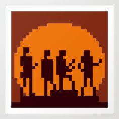 Get lucky cover in minimal pixel art on society6 by 8bitbaba.#daftpunk #getlucky #pixelart #8bitart #albumcover #8bitbaba