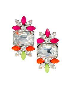 Love Rocks Petal Stud Earring