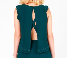 Combinaison pantalon Jo vert sapin