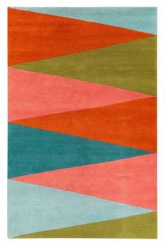 Tapis en laine Harlequin par Jonathan Adler (The Rug Company) Nice colour combo Textile Patterns, Print Patterns, Textiles, Jonathan Adler, Contemporary Rugs, Modern Rugs, Art Et Design, Design Design, Interior Design