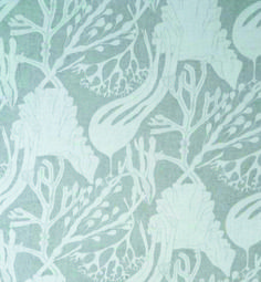 seaweed, white print on white cotton voile (against the light)
