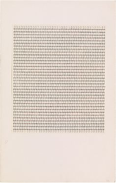 Anni Albers, Typewriter study to create textile effect, n. ink on paper mounted on board × in. Abstract Drawings, Abstract Art, Bauhaus Textiles, Joseph Albers, Anni Albers, Colour Field, Color Harmony, Concept Board, Wassily Kandinsky