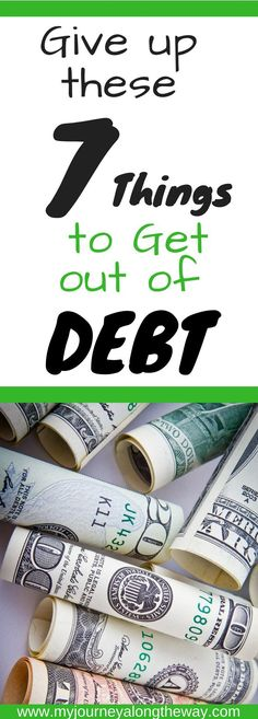 Give up these 7 things to get out of debt | Get out of debt faster by giving up these 7 things | Simple steps to take to get out of debt | Financial Peace