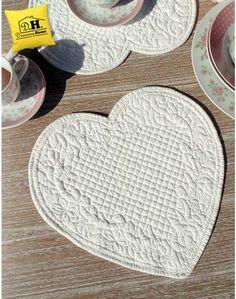 Nice quilting for placemat | Tovaglietta americana Shabby Chic Blanc Mariclo Sofia Collection Colore Avorio