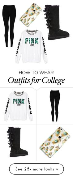 """Basic "" by kjhaskett on Polyvore featuring Victoria's Secret, M&S Collection and UGG Australia"