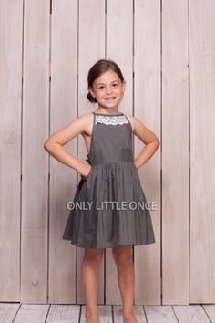 Gray girls dress,girls dress,girls lace dress,grey dress,to Kids Dress Wear, Girls Lace Dress, Little Girl Outfits, Little Girl Dresses, Kids Outfits, Girls Dresses, Fancy Dress, Kids Clothing Rack, Kids Clothing Brands