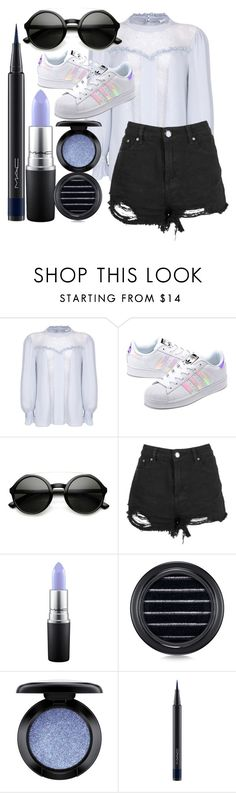 """""""style this trending item #46"""" by xcheerio-kierox ❤ liked on Polyvore featuring Ghost, adidas Originals, ZeroUV, Boohoo and MAC Cosmetics"""