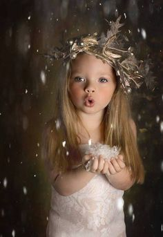 the perfect flower girl attire for a fantasy winter-wedding theme!