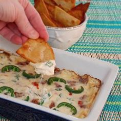 """Jalapeno Popper Dip with Bacon   """"Such a huge hit that we went back out to the store for the ingredients to make more!"""""""