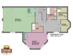 Cascade Handcrafted Log Homes - 2491 Cloudcroft - Basement Floor Plan