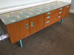 Upcycled Vintage Retro Schreiber Mid Century Sideboard by dollydiditLDN 70s Furniture, Furniture Update, Furniture Upholstery, Upcycled Furniture, Furniture Making, Painted Furniture, Upcycled Vintage, Retro Vintage, Retro Dresser