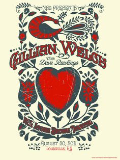 Gillian Welch poster - love her and this poster!