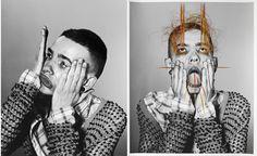 Beautifully Embroidered Black & White Portraits - collaboration between Richard Burbridge and Maurizio Anzeri