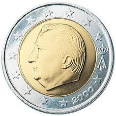 Belgium 2 Euro Coin (Initial Version)