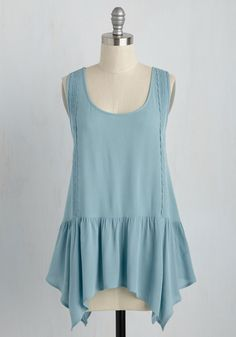 Waft to See the World Top. Buoyantly and blissfully, you board the plane in this light blue blouse. #blue #modcloth