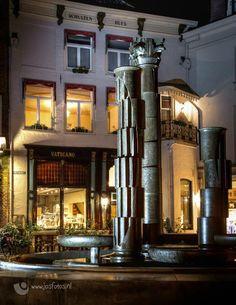 Fontein Houtmarkt Zutphen en mijn favoriete restaurant.