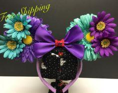 Disney Inspired Ear Headbands & Bows by FloraFaunaAndME on Etsy