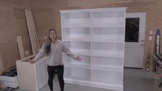 Building Your own Custom Sized Bookshelves! Bookshelves Built In, Built Ins, Book Shelves, White Office Furniture, Anna White, Custom Shelving, White Books, Built In Cabinets, Diy Furniture Projects