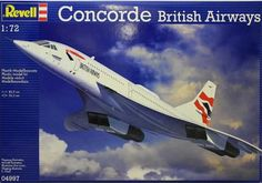 Revell 1:72 BAC Concorde Plastic Model Airplane Kit 04997 BAC Concorde Plastic Model Airplane Kit. This model kit made by Revell requires assembly and is 1:72 scale (approx. 86cm / 33.9in long). Described by the press as the Queen of the Skies , the Concorde supersonic passenger aircraft was in regular service from 1976 until 2003. With a top speed of Mach 2.2 (2400 km/h - 1490 mph), Concorde flew faster than all its competitors and reduced the flight time between Europe and the USA by…