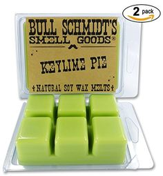 Bull Schmidt's Keylime Pie 6.4 oz Scented Wax Melts - Lime and green lemon zests on vanilla cream - 50  hours of fragrance when melted in Scentsy or other tart warmer *** You can get additional details at