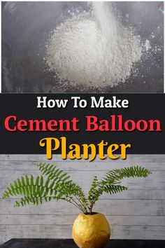 Learn how to make a cement balloon planter in this short step by step tutorial. It's an easy project, and the planter made can be used in a number of other ways as well. Cement Planters, Concrete Pots, Concrete Crafts, Recycled Planters, Diy Planters, Garden Yard Ideas, Garden Art, Garden Tips, Cool Diy Projects