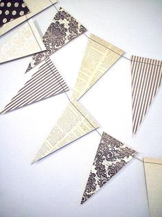 Vintage Style 6ft Garland  ///////   Vintage by BeeBuzzPaperie, $8.40