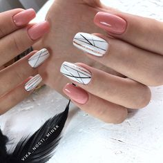 Best Nail Art - 61 Best Nail Art Designs for 2019 - Nägel - Nageldesign Pretty Nail Colors, Pretty Nail Designs, Best Nail Art Designs, Pretty Nail Art, Gel Nail Designs, Pink Nails, Gel Nails, Nail Design Video, Acrylic Nail Art