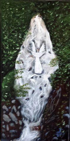 Wall Art - Angel Falls - Acrylic Paints on Canvas by AngelsOnTheRoad on Etsy Angel Falls, Acrylic Painting Canvas, Original Paintings, Angels, Wall Art, Etsy, Angel