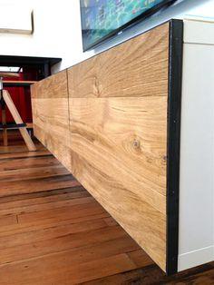 Besta gets floored - IKEA Hackers. I love the idea. Poner suelo de madera en muebles besta!