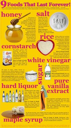 9 Foods That Last Forever | Infographic #survivallife www.survivallife.com