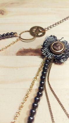 🌟News E-SHOP🌟  A découvrir sur @alittlemarket  https://www.alittlemarket.com/boutique/madamebabioles  #collier #collierrecup #perle #dore #jean #engrenage #réveil #fleur #original #bijoux #bijouxfemme #accessoires #faitmain #artisanal #homemade #noir #rond #long #necklace #beaute #mode #blogmode #shopping #cadeau