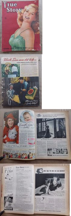 Magazines: True Story Magazine April 1940 Susan Hayward- Gga Cover Art-Good Girl BUY IT NOW ONLY: $0.99