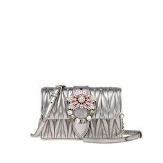 d746951c8e42 Miu Lady leather bag MiuMiu CHROME El Çantaları