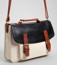 Ten Super Cute Satchels to Tote  Three Tone Satchel by fredflare.com