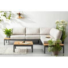 Exotan all weather loungeset Villa Outdoor Sofa, Outdoor Furniture Sets, Outdoor Decor, Teak, Terrace, Minimalism, Villa, Weather, Couch