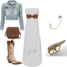 White Maxi dress outfit