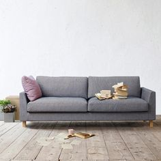 Stay soffa - Stay soffa - tyg ljusgrå, askben Sofa, Couch, Love Seat, Ben, Furniture, Design, Home Decor, Ideas, Settee