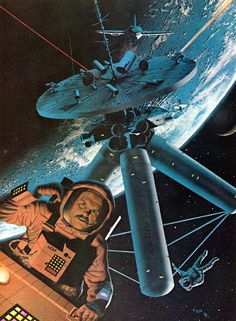 1979 illustration by David Egge for an article 'War In Space' in Future Life magazine.