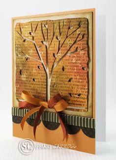 Shari Carroll: …my world –  Another Fall Hero Arts Shape - 10/26/10.  (Hero Arts die: Trees of the Season).  (Pin#1: Background: Sponged.  Pin+: Nature: Trees; Fall/...).